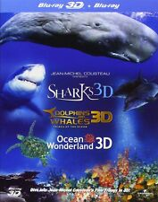 JEAN-MICHEL COUSTEAU Film IMAX 3D Blu-Ray SET Dolphins Ocean Lot Show Collection