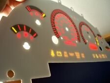 99-03 Metric In Kilometers Ford Mustang Cobra White Face Glow Through Gauges Red