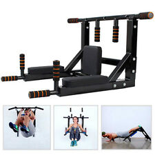 Wall Mounted Pull Up Bar Power Tower Set Chin Up Station Support up to 150 kg
