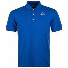 Nuevo Kappa Omini Hombre Polo de Algodón Camiseta TALLA M Azul Real Vintage