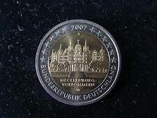 """2€ Sondermünzen BRD 2007 """"Deutsche Länder Meck-Pom """"bankfrisch/unc. aus Rolle"""