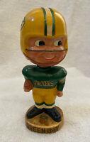 VINTAGE 1960s AFL NFL GREEN BAY PACKERS BOBBLEHEAD NODDER BOBBLE HEAD