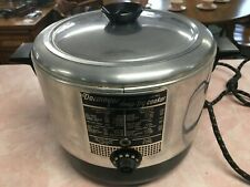 Vintage Dormeyer Chrome Automatic Electric Deep Fry Cooker-Working
