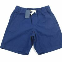 Lands End Kids Small Size 8 Shorts Blue Drawstring Pull On Woven 001N