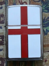 ENGLAND FLAG EMBLEM ZIPPO LIGHTER FREE P&P FREE FLINTS