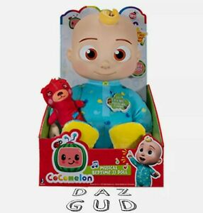 """Cocomelon Roto JJ Doll Bedtime Soft 10"""" Singing Plush Toy YouTube NEW FAST SHIP"""