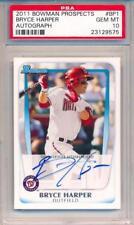 Bryce Harper 2011 Bowman Prospects Signed Autographed #BP1 Card PSA 10 Auto *575