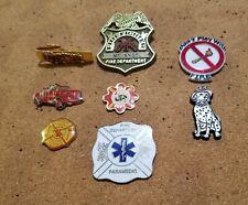 FIRE DEPARTMENT PINS X 8 (#4)