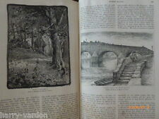 Robert Burns Old Antique Victorian Illustrated Engravings Article 1886