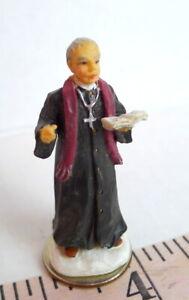 Grandeur Noel Victorian Village Catholic Priest  Replacement People Man 2001