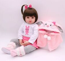 22'' 55cm Real Life Reborn Bebe Dolls Soft Silicone Baby Doll Toy