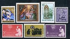 AUSTRALIA / AUSTRIA = CHRISTMAS x7 STAMPS MNH PAINTINGS, JUDAICA