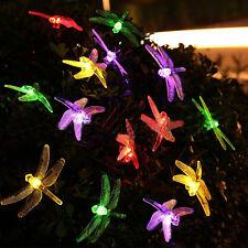 LED SopoTek multi-color led string  Dragonfly Solar Fairy solar