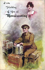 Mountnessing near Ingatestone. WW1 Military Comic # 3272 by W&K. Thinking of You