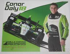 2016 Conor Daly Jonathan Byrd's Honda Dallara Indy Car postcard