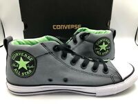 Converse Size 3Y Youth Chuck Taylor All Star Street Mid Grey Junior 660866F New