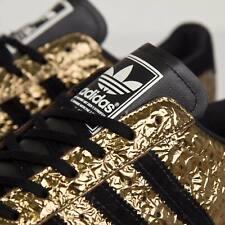⭐👟 Adidas Originals Superstar 80s Metal Toe Trainers B25033 Gold Metallic UK 10