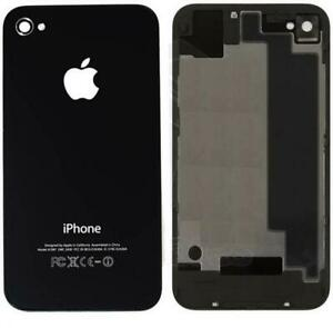 Replacement Back Cover APPLE IPHONE 4 A1332 GLASS REPLACEMENT Black UK SELLER
