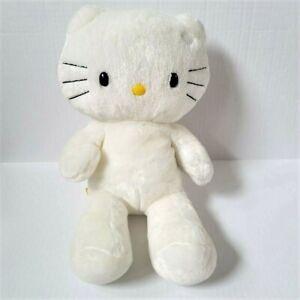 "Build A Bear Hello Kitty 17"" White Plush Suffed Animal Sanrio"