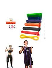 100% LATEX FITNESS STRONG RESISTANCE BAND SET EXERCISE GYM YOGA PULL- UP
