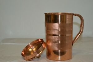 Pure Copper Hammered Water Jug Copper Good for Health Ayurveda Treatment 1.8 ltr