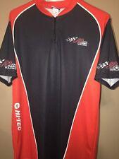 Joe Gibbs Racing Nascar Team Issued Hamlin Busch Pit Crew Shirt Hi-Tec Large