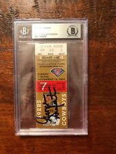 George Seifert Signed Ticket Stub BAS Beckett Coa Slabbed Encapsulated 49ers