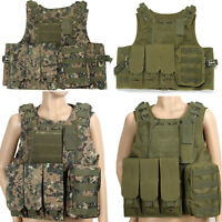 Tactical Military Vest SWAT Police CS Airsoft Molle Combat Plate Carrier Vest
