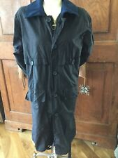 VTG BARBOUR COTTON WAX JACKET LONG  Coat Duster 81CM 32""
