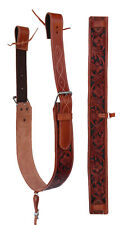 Horse Western Leather Tooled Back Rear Cinch Flank Girth w/ Off Billets 9762A