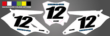 KAWASAKI NUMBER BOARD BACKGROUNDS KXF 450 2016-2018 CUSTOMISABLE ADD NAME NUMBER
