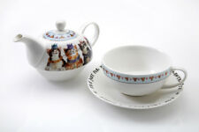 Royal Furmily Tea for One Set Teapot Cup Saucer Cat Characters Gift Bone China