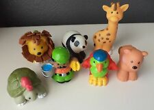 Fisher Price Little People Zoo Keeper Animals Turtle Lion Bear Bird Set #8