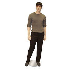 Male Euro Mens Mannequin w/Wig & Stand Store Fashion Clothes Display Fixture New