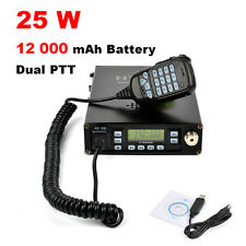 25W 2-Ptt Dual Band Handheld Mobile Transceiver With 12000 mAh Battery Antenna