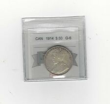**1914**,Coin Mart Graded Canadian Silver 50 Cent, **G-6**