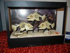ANIMATED HAUNTED AQUARIUM with SKELETON FISH HALLOWEEN PROP DISPLAY - FISH TANK