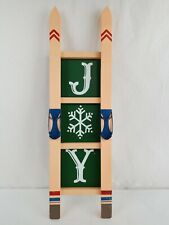 "New! Allen + Roth ""Winter Joy"" Hanging Ski Christmas Sign"