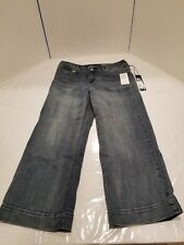 7 for all Mankind Size 10 Gaucho NWT Womens Jeans Pants Casual Dark
