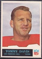 1965  TOMMY DAVIS - Philadelphia Football Card - # 174 - SAN FRANCISCO 49ERS