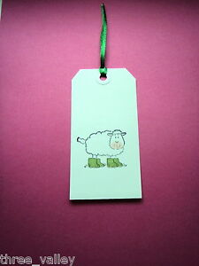 10 X HANDMADE SHEEP ANY OCCASION / BIRTHDAY GIFT TAGS LUGGAGE LABELS