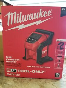 Milwaukee 2475-20 M12 Compact Inflator (Bare Tool) Car Truck Tire Cordless Pump