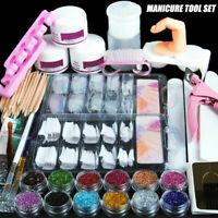 Acrylic Nail Art Tool Kit Set Powder Nail Sticker DIY Set Pump Nail Brush