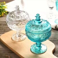 Crown Candy Jar, Dessert Bowl, and Candy Bowl, or Nut Bowls with lid