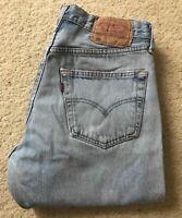 Mens Levis 501 XX blue straight leg distressed denim jeans W 30 L 31