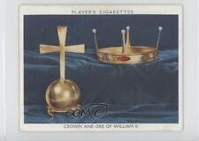 1937 Player's British Regalia Tobacco Base #2 Crown and Orb of William II 1s8