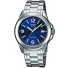 Casio Uhr MTP-1259PD-2A Herren Armbanduhr Edelstahl Blau Silber watch NEU & OVP