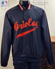 MLB Baltimore Orioles Majestic Light Weight Black Stitched Logo Cotton Jacket XL