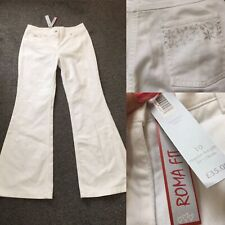 M&S Per Una White Roma Fit Natural Waist Flare Jeans Trousers BNWT £35 Sz 10R
