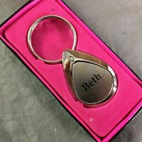 Beth Keychain Keyring Personalized Name Mulberry Studio NEW